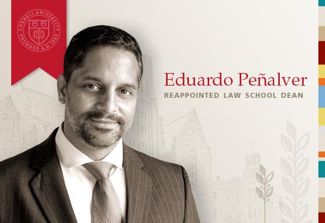 Eduardo Peñalver Reappointed Law School Dean