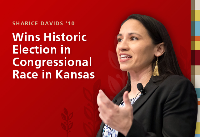 Sharice Davids '10 Wins Historic Election in Congressional Race in Kansas